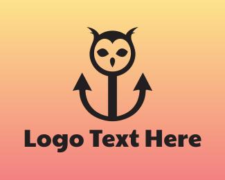 Aviary - Owl Anchor logo design