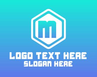 Pink Hexagon - Simple Rounded Hexagon Lettermark logo design