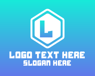 """""""Simple Rounded Hexagon Lettermark"""" by BrandCrowd"""