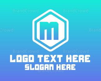 Simple - Simple Rounded Hexagon Lettermark logo design