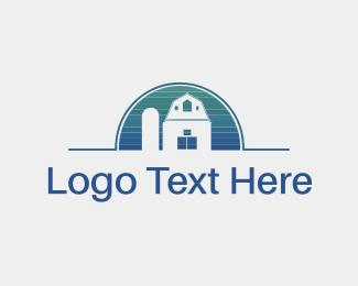 Farmhouse - Blue Property logo design