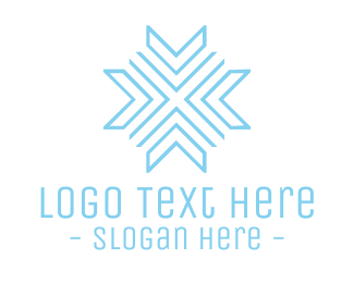 Freeze - Blue Modern Snowflake logo design