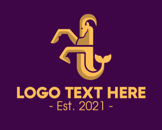 Fortune Teller - Capricorn Zodiac Sign logo design