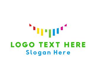 Color - Colorful Ribbons logo design