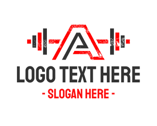 Protein Shake - Strong Letter A logo design