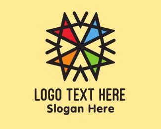 Center - Colorful Arrows logo design