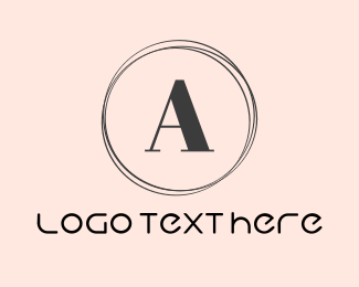 Fashion Label - Minimalist Letter A Circle logo design