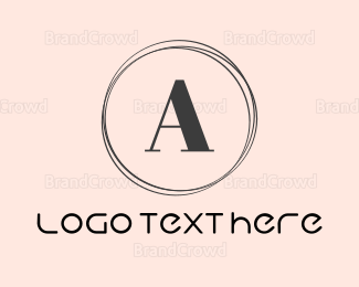 Skin Care - Minimalist Letter A Circle logo design