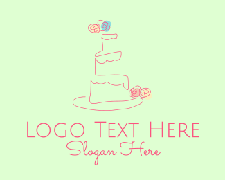 Confectioner - Cake Bakeshop Outline logo design
