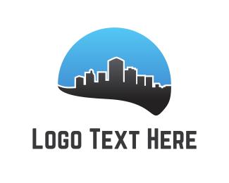 Skyscraper - Black City logo design