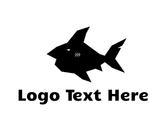 Shark - Black Fish  logo design