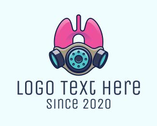 Breathe - Respirator Mask logo design