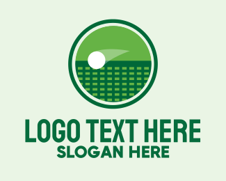 Racquet - Green Tennis Court  logo design