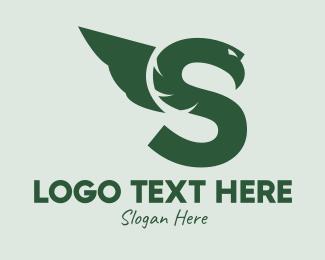 Winged - Winged Snake Letter S  logo design