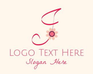 Blooming - Pink Flower Letter J logo design