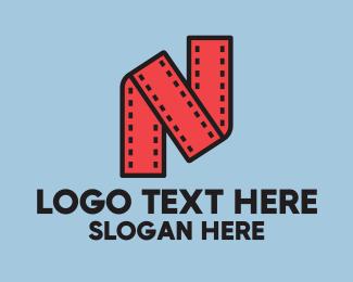 Letter N - Filmstrip Letter N logo design