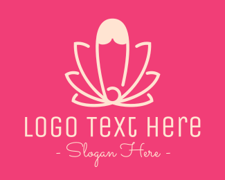 Orchid - Pink Lotus Safety Pin logo design