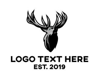 Metallic - Gray Moose gaming logo design