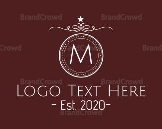 Academy - Luxurious Detailed Crest Lettermark logo design
