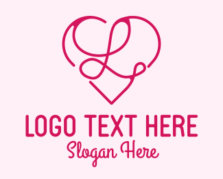Single - Heart Shaped Letter L logo design