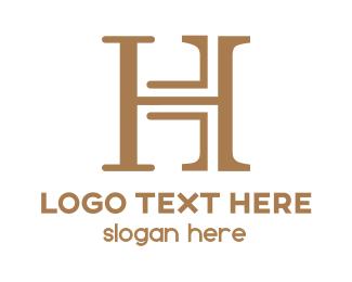 Initial - Modern & Classic Letter H logo design