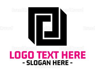 Framing - Abstract Square logo design