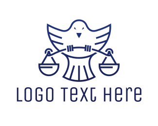 Law Firm - Blue Dove Scale logo design