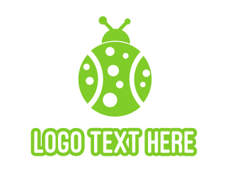 Green Bug - Tennis Ladybug Beatle logo design