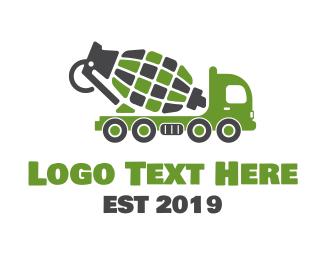 Concreter - Grenade Truck logo design