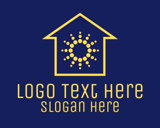 Solar - Solar Power House logo design