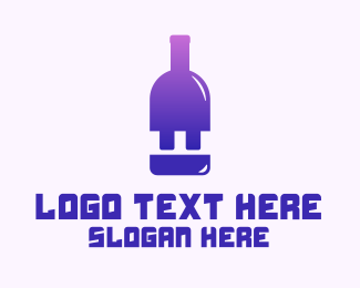 Liqueur - Electric Bar logo design
