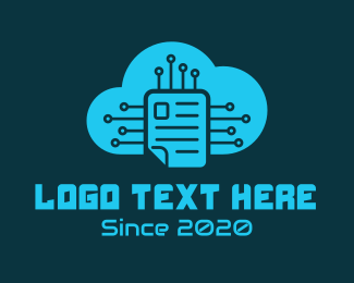 Drive - Electric Cloud Storage  logo design