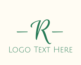 """Green Cursive Letter R"" by BrandCrowd"