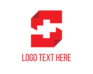 Emergency - Paper & Cross logo design