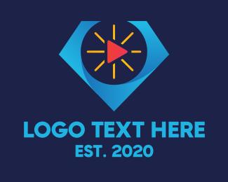 Vlogger - Youtube Vlogger Diamond Play  logo design