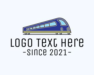Transport - Bullet Train Transportation logo design