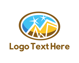 Golden - Golden Mountains logo design