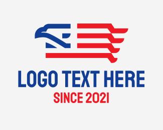 American Eagle - American Eagle Flag logo design