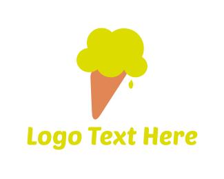 Gelato - Lemon Ice Cream logo design