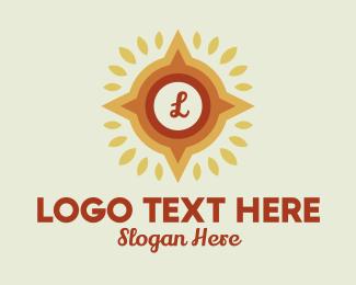 Navigation - Leaf Navigation Lettermark logo design