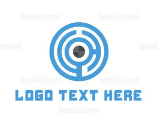 Biometric - Maze Target logo design