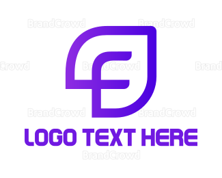 Innovation - Purple F Leaf logo design