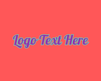 Pop - Retro Pop Wordmark logo design