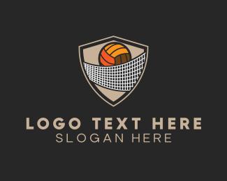 Varsity - Volleyball Net logo design