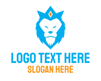 Accessory - Blue Lion Crown  logo design