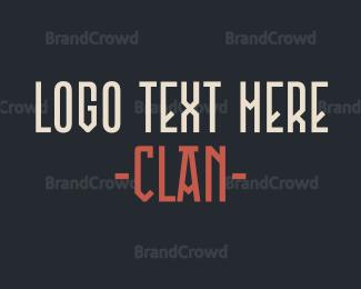 Text - Clan Text logo design