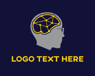 Psychiatry - Brain Connections logo design