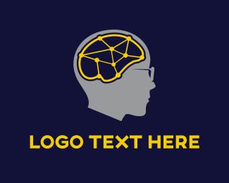Ai - Brain Connections logo design