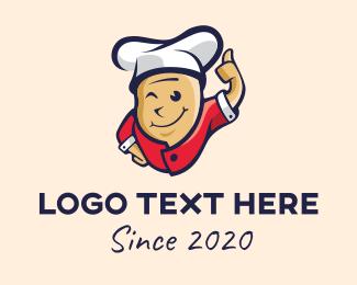 Executive Chef - Oriental Chef Mascot logo design