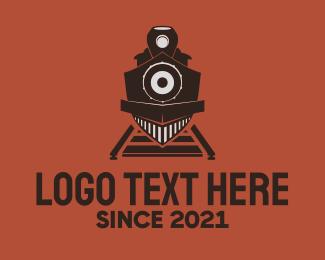 Train - Vintage Train Station logo design